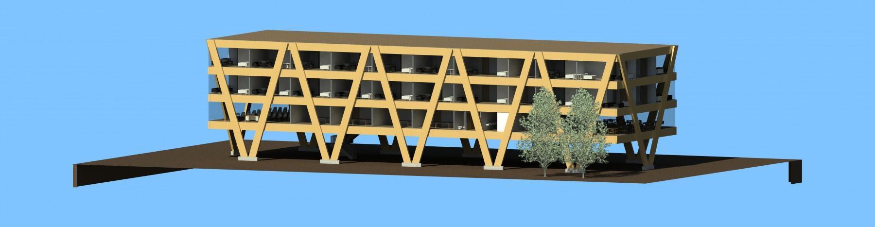 Multifunctional Building Render